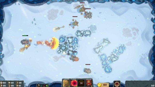 Flamebreak game screenshot, blizzard