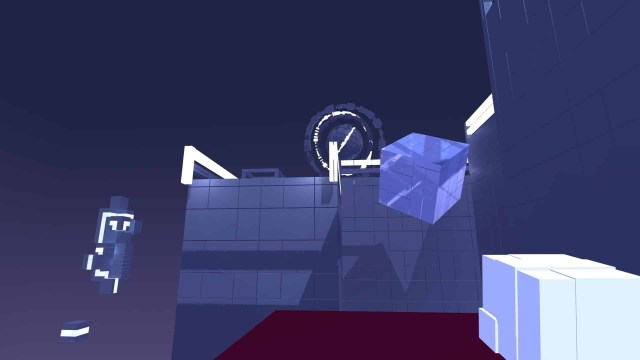 Glitchspace game screenshot, floating objects