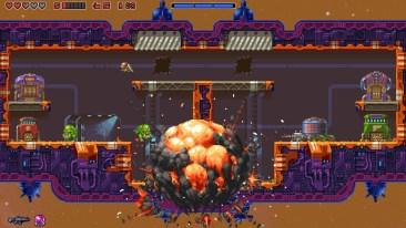 Super Mutant Alien Assault game screenshot, explosion