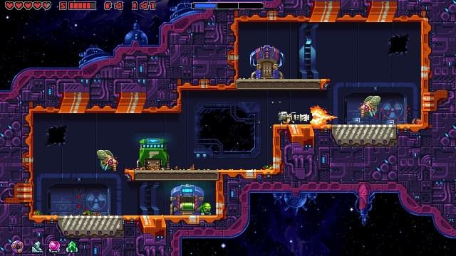 Super Mutant Alien Assault game screenshot, minigun