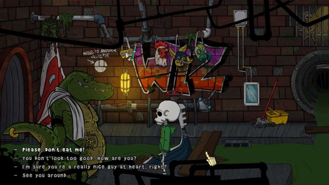 The Wardrobe game screenshot, sewer