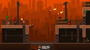 GunHero game screenshot, missiles