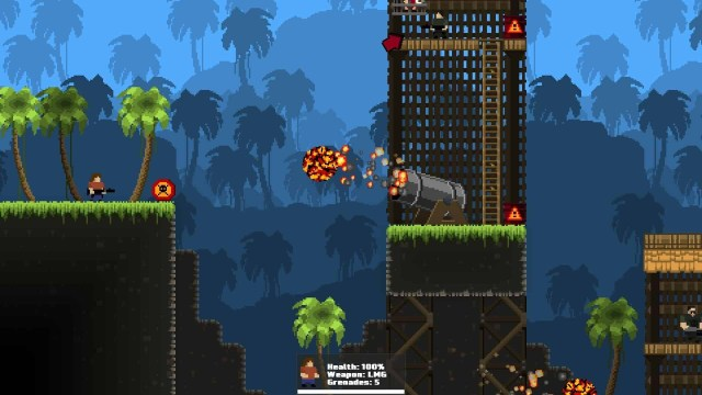 GunHero game screenshot, fireball cannon