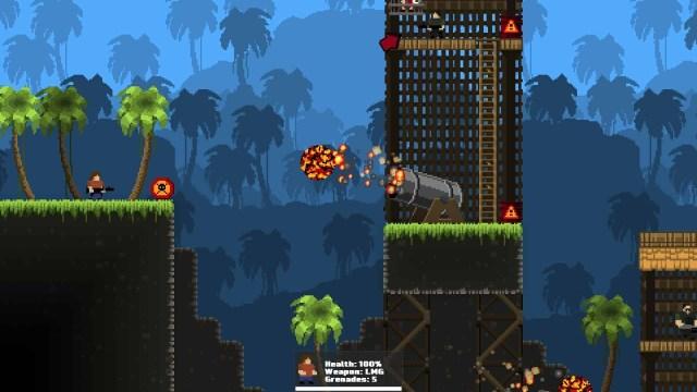 GunHero game screenshot, fireball cannon