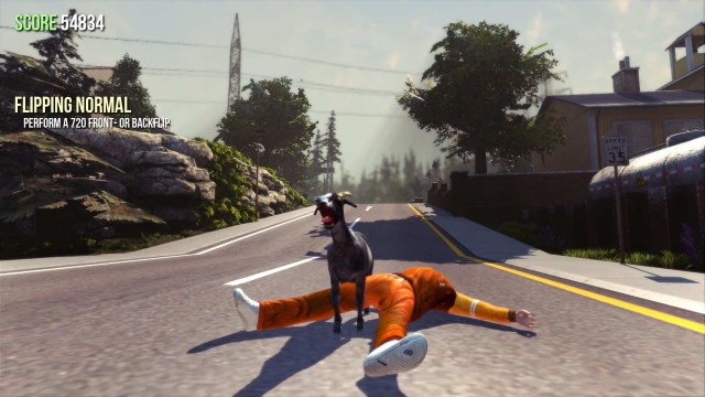 Goat Simulator game screenshot courtesy of Steam
