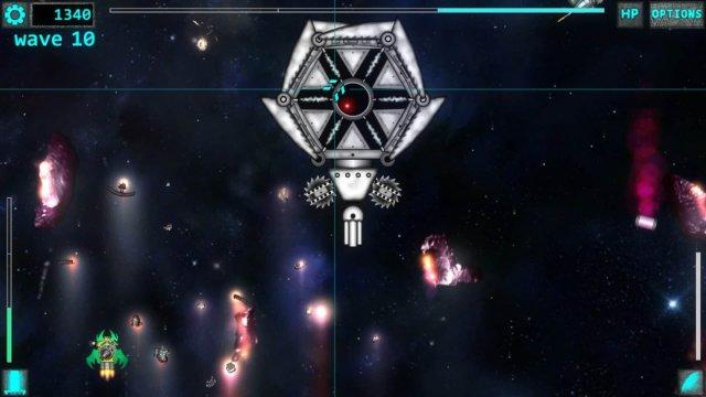 Space Ripper game screenshot, boss fight