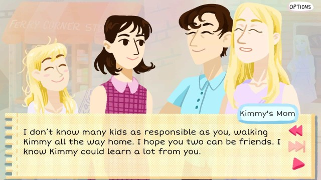 Kimmy game screenshot, mothers