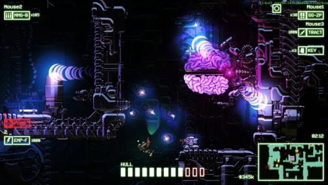 Cryptark game screenshot, central core