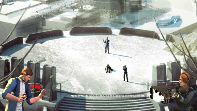 Divide game screenshot, cut scene
