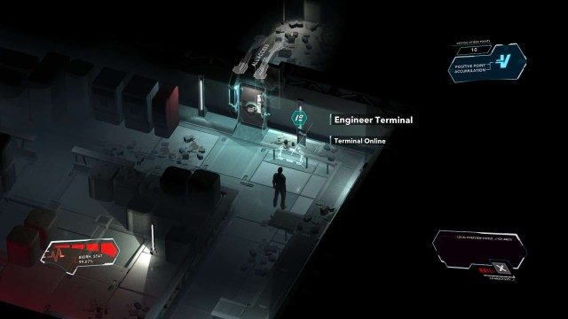 Divide game screenshot, engineer terminal