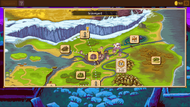 Knights of Pen and Paper 2 world map