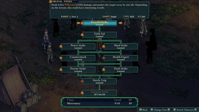 Fell Seal: Arbiter's Mark game screenshot, choosing abilities
