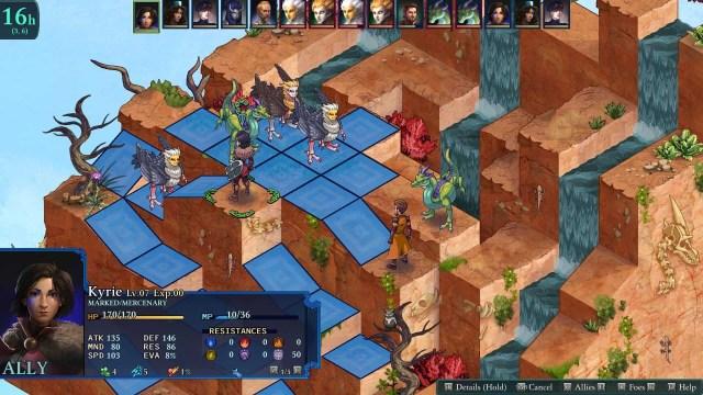 Fell Seal: Arbiter's Mark game screenshot, fight scene 2