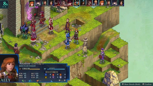 Fell Seal: Arbiter's Mark game screenshot, fight scene 1