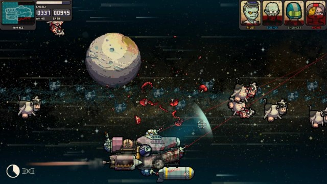Fission Superstar X game screenshot, space cows