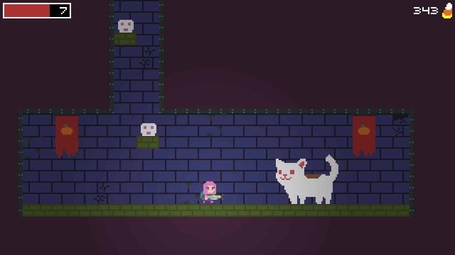 Spooky Ghosts Dot Com game screenshot, kitty