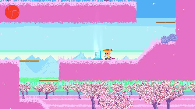 Ato game screenshot, pink background