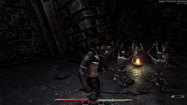 Back to Ashes game screenshot, skeletons