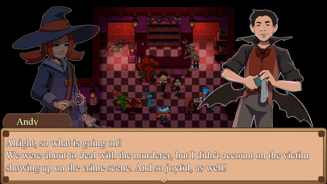 The Button Witch game screenshot, Bartender