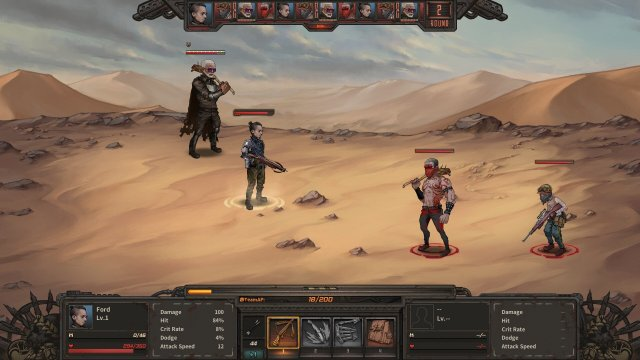 Dust to the End, game screenshot, fight scene