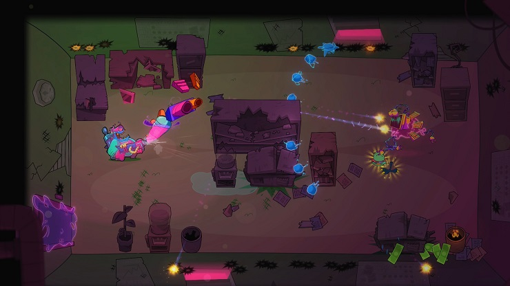 Top-Down Shooter 'Dead End Job' Blasts & Vacuums Up Ghosts