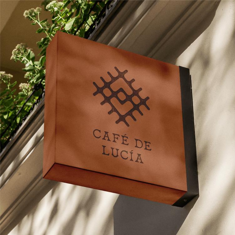 Cafe De Lucia Signage