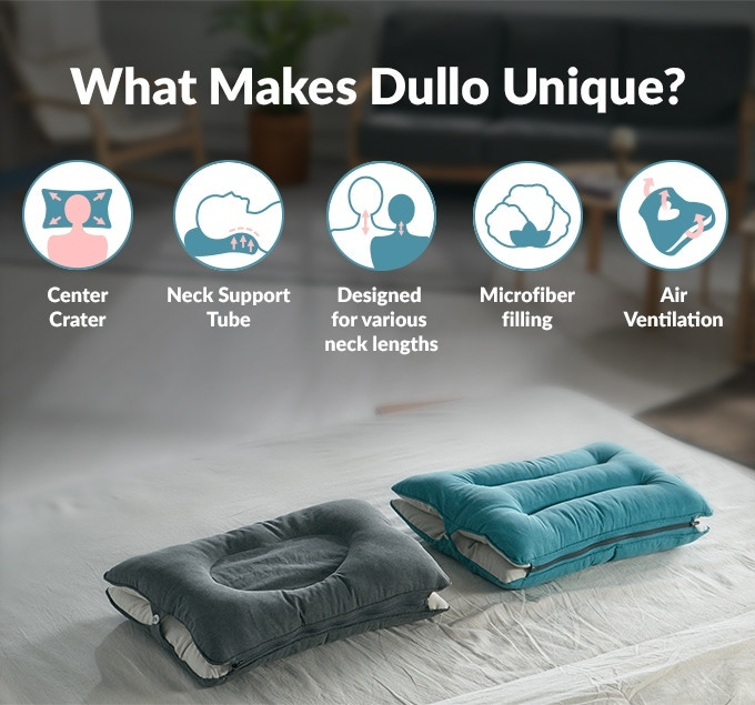 dullo neck relief pillow for back