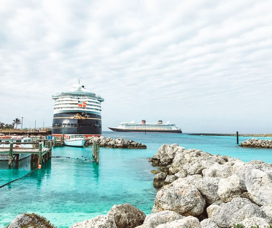 Guide to first time cruising for Disney Cruises and for those afraid to cruise. A rare occurrence - Two Disney ships (Wonder & Dream) at Castaway Cay together.