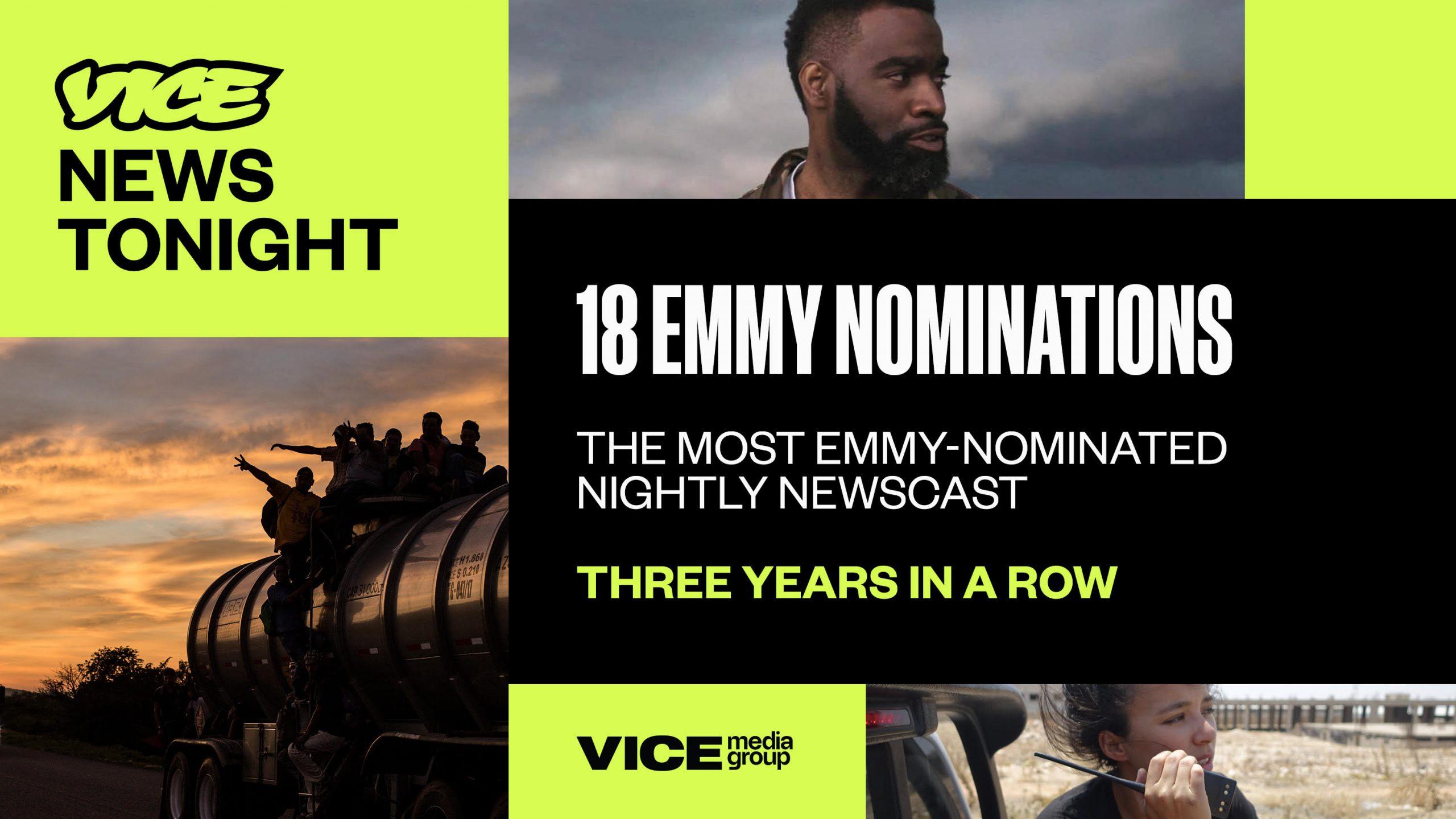 Vice Media Dapatkan Nominasi Terbanyak di Emmy Awards (Gambar via Twitter VICE Communications @VICEComms)