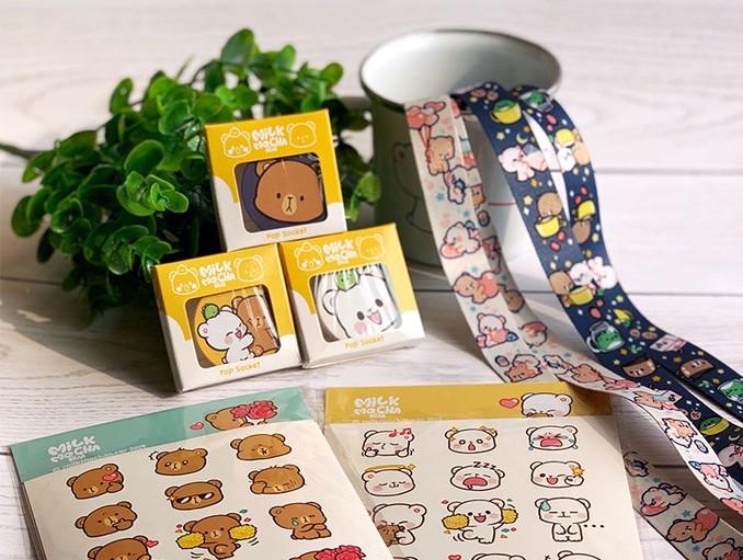 Milk & Mocha Bear dari Klova Studio (Foto via klova.id)