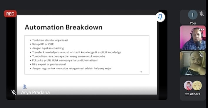 Event #NgalamTalks4 DILo Malang membahas optimasi bisnis software house