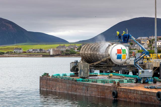 Penelitian pusat data di bawah laut (Foto via Microsoft)
