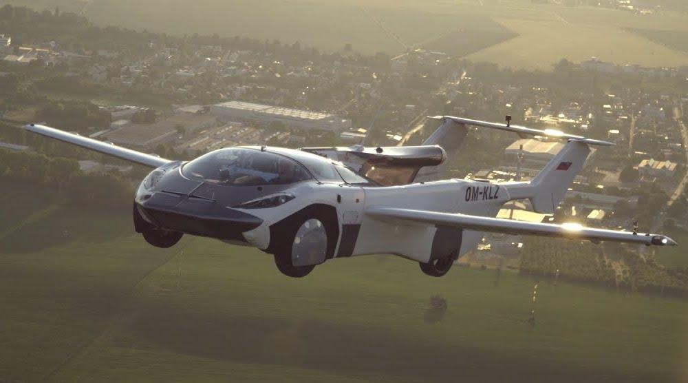 Mobil terbang rancangan Prof Stefan Klein (Foto via YouTube KleinVision)