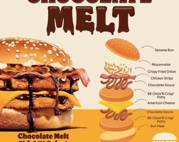 Burger Saus Cokelat dari Burger King Sudah Rilis, Mau Coba?