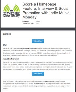 Indie Music Monday - ReverbNation - Indie Music Bus