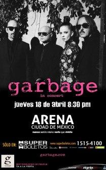 Flyer: Garbage en la Arena Ciudad de México