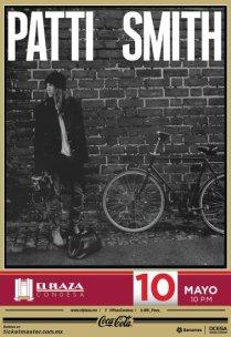 Flyer: Patti Smith en El Plaza Condesa