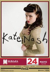 Flyer: Kate Nash en El Plaza Condesa