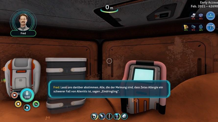 Dialoge in Below Zero sind nun auch visualisiert.