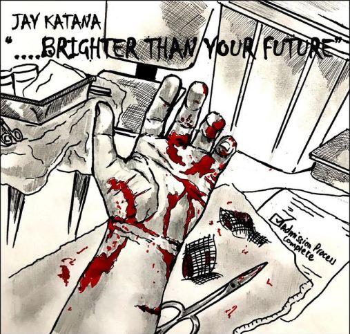 JAY KATANA BRIGHTER THAN YOUR FUTURE CD ARTWORK