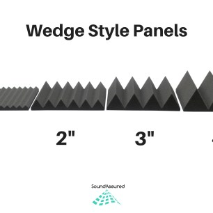 wedge style acoustic foam panels