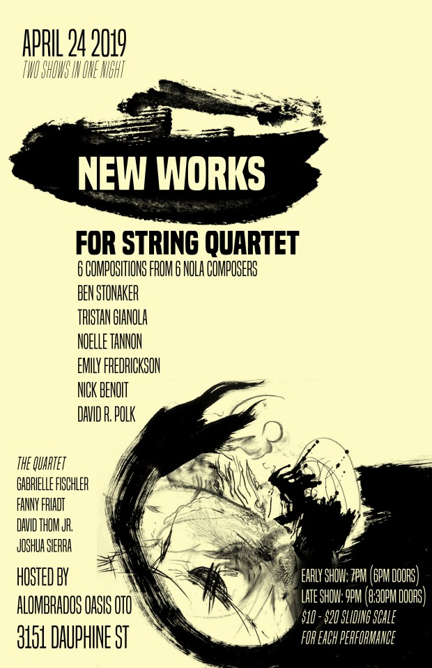 new works for string quartet_april24