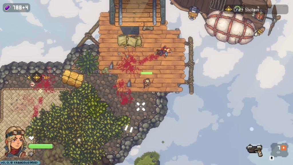 Combat effects of Black Skylands