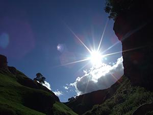 Sunlight over hills