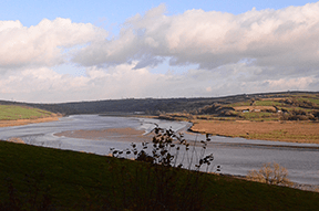 View over the estuary at Llansteffan