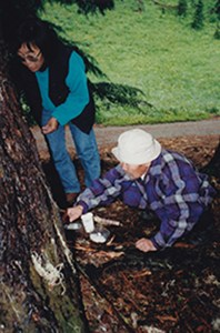 The Duvans giving offerings at Mt. Rainer