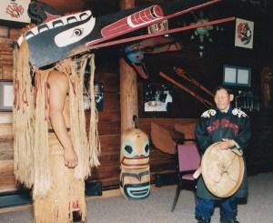 Grandfather Misha and Coast Salish Spirit Dancer