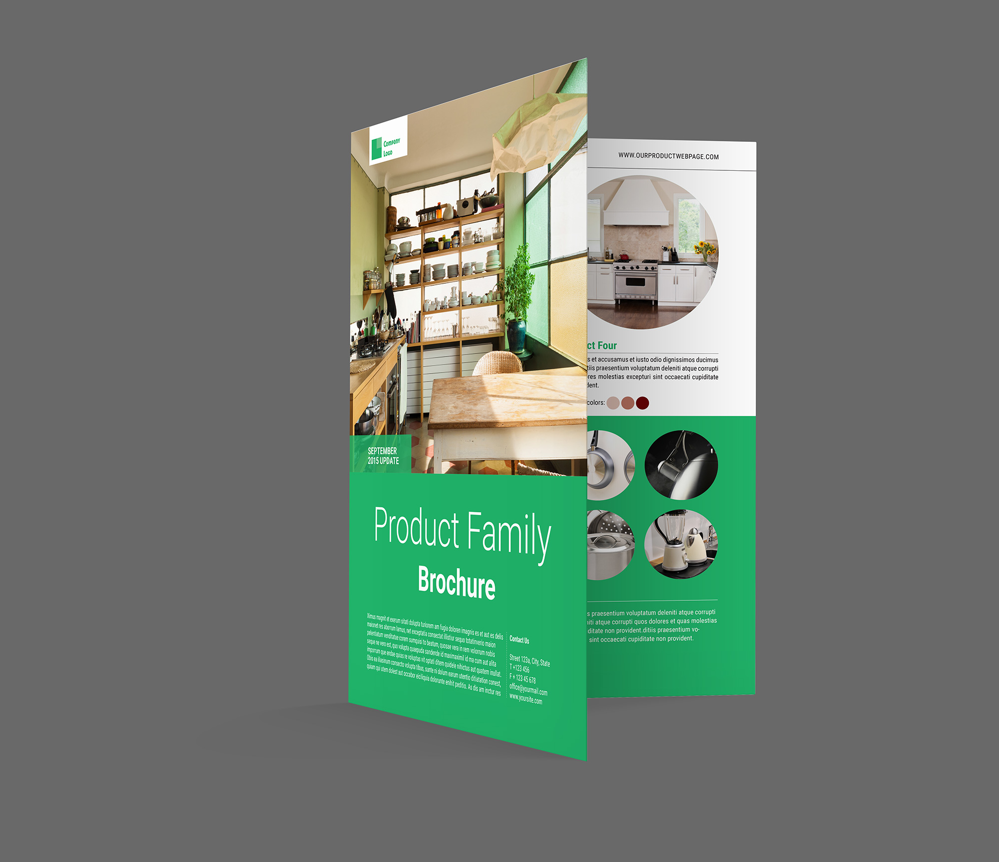 Product Brochure Template Indiestock