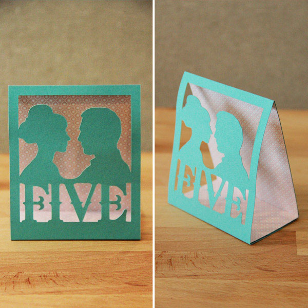 DIY Silhouette Table Numbers via Indie Wed blog