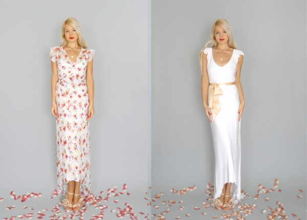 Two Wedding Gowns by DAHL NYC